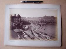 Scarborough From Spa Grounds   . Victorian Photograph mounted on album card