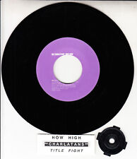 "THE CHARLATANS  How High? 7"" 45 rpm vinyl record RARE + juke box title strip"