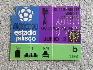 1970 - ENGLAND v ROMANIA MATCH TICKET - WORLD CUP 70 - ORIGINAL
