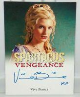 2013 Rittenhouse Spartacus Vengeance Viva Bianca Ilithyia Signed Autograph Card