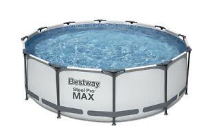 Bestway Steel Pro MAX 366x100cm Pool Filterpumpe und Zubehör Gartenpool 56418