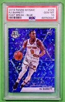 2019 Panini Mosaic 229 RJ Barrett Fast Break Blue /85 PSA 10 Rookie Knicks