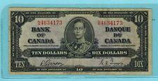 1937 Canada 10 dollar Bill N/D Gordon/Towers BC-24 B