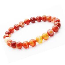 Bracelet Agate Rouge pierre semi-précieuse 8 mm. (ST08-AGAR)
