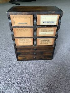 Antique Unique APOTHECARY CABINET Drugstore Pharmacy Wood Cardboard Advertising