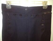Vintage WW2 US USN Navy Naval Clothing Factory Wool Uniform Pants 13  Buttons