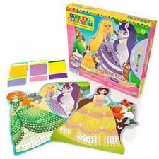 Princesses Sticky Mosaics Craft Kit Creative Set By Numbers Official