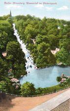 Postcard Germany Berlin Kruezberg Wasserfall im Victoriapark ca1907-15 Unused