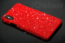Bling Red Crystal Diamond Case PC Hard Cover For iPhone X W/H SWAROVSKI ELEMENTS