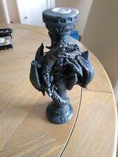 2 Dragons climbing candlestick Fantasy Art Statue Sculpture Ornament