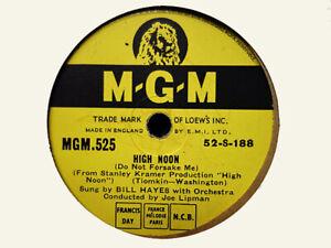 BILL HAYES - High Noon / Padam-Padam 78 rpm disc (A++)