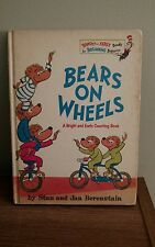 Bears On Wheels Berenstain Beginning Books Random House 1969 HC