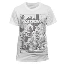 Batman Black And White Comic T-Shirt 2XL TD086 XX 02
