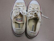 Youth  CONVERSE White ALL STAR Chuck Taylor Canvas Athletic Shoes size 2