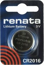 For Watches, Cameras, Car Keys, Torches Cr2016 Coin Battery Pack Renata 3V /