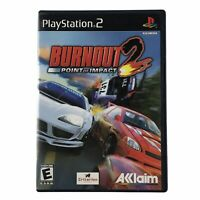 Burnout 2: Point of Impact (Sony PlayStation 2, 2002) Complete w/Manual CIB