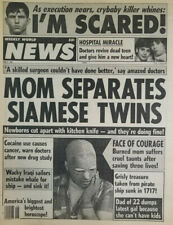 Weekly World News May 6 1986 Mom Separates Siamese Twins - Crybaby Killer - Burn