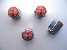 Coca Cola Soda Tire Valve Stem Caps, Coca Cola Soda Logo Tire Caps, Coca-Cola