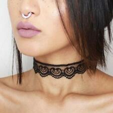Tattoo Lace Crochet Choker Necklace Collar Retro Gothic Charm Chain Jewelry Boho