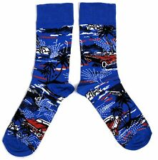 MENS MIAMI AMERICAN CLASSIC CAR PALM SOCKS UK SIZE 6-11 / EUR 39-45 / USA 7-12