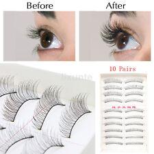 Wholesale 10Pair Makeup Handmade Natural Fashion Long False Eyelashes Eye Lashes
