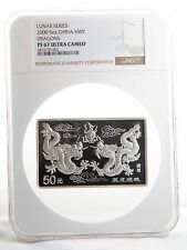 2000 5oz Silver Lunar Dragon Bar NGC PF67 Ultra Cameo #3509