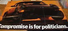 Original 1988 - 1989 Porsche Large Poster Sales Brochure 88 89 911 944