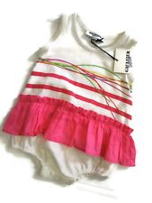 Gaultier bebe Jean Paul Baby infant girls One Piece Pink white Tutu 6M 6 Months