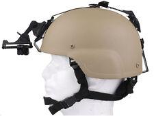 MDG MICH 2000 Helmet + Night Vision NVG Mount  Airsoft Tan