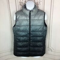 NEW Jackson Hole Outerwear Womens XL Puffer Vest Gray Ombre Pockets Mock Neck