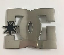 Pre Owned DC White Silver Belt Buckle