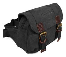 Stylish Quality Ocello Canvas Bumbag Fanny Pack Travel Flight Weekend Waist Bag