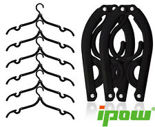 IPOW 6PCS Folding Plastic Clothes Hanger Foldable Laundry Hook Drying Rack
