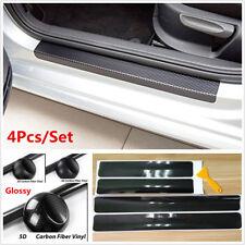4x 5D Carbon Fiber Car Accessories Door Sill Scuff Panel Cover Protector Sticker