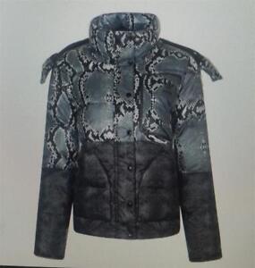 Adidas womens patchwork down jacket coat black multi new ab2892 uk 8 to uk 14