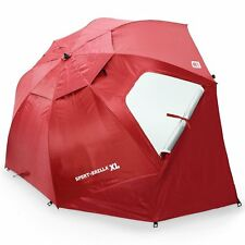 Sport-Brella XL Portable All-Weather and Sun Umbrella. 9-Foot Canopy. Deep Red