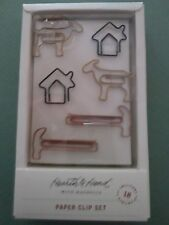 RARE/HTF Hearth & Hand/Magnolia Paper Clip Set/18-House/Hammer/Goat- Sold Out