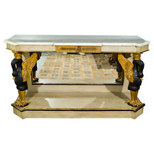 French Marble Top Console with Gilt Carved Swans 101-2755