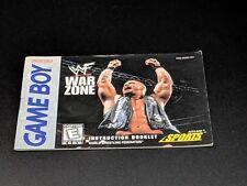 WWF War Zone Instruction Manual Nintendo Game Boy NRMT condition