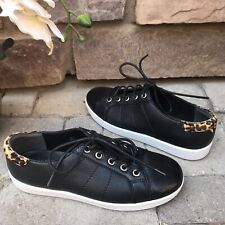 PAIGE - Black leopard Sneakers. Very Stylish Sneakers. US 6.5