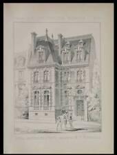 PARIS, HOTEL RUE DE SIAM - 1887 - 2 PLANCHES ARCHITECTURE - PASSY, BENOUVILLE