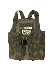 VTG NWTF Jakes Mossy Oak Turkey Hunting Vest Green Leaf Youth Size XL Rare