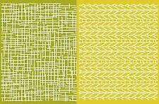 LIFESTYLE CRAFTS Embossing Folder --- WOVEN ( 2 Folders)