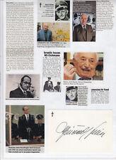 Simon WIESENTHAL (+ ISR) orig.Autogramm Holocaust, Nazi Jäger ++TOP