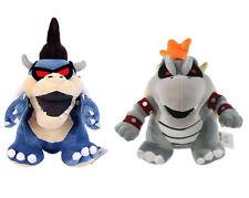 Set Super Mario Bros. Dark Bowser & Dry Bowser Bones King Koopa Plush Toy Doll