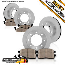 Front and Rear Brake Rotors & Ceramic Pads Kit DODGE RAM 1500 2500 3500 2WD 4WD