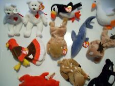Lot of 47 Retired Ty Beanie Babies with Tags Roary Fortune Daisy Snort Chocolate