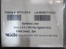 Restek - 4.0 mm ID Double Taper Inlet Liner, Part# 20785-214.5, Agilent GC Liner