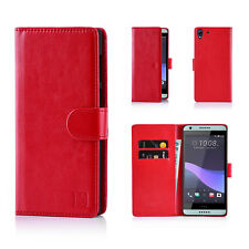 32nd Book Wallet PU Leather Case Cover for HTC 10 Screen Protector & Stylus Red