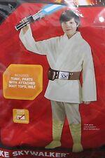 LUKE SKYWALKER Boys Small (4-6) Costume Star Wars Boys Jedi Child Halloween NEW